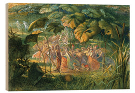 Stampa su legno  Fairy Dance in a Clearing - Richard Doyle