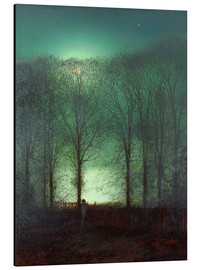 Stampa su alluminio  Figure in the Moonlight - John Atkinson Grimshaw