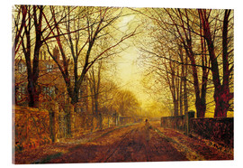 Stampa su vetro acrilico  Night in Gold, 1872 - John Atkinson Grimshaw