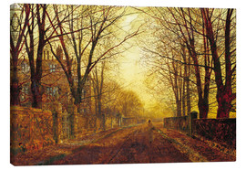 Stampa su tela  Night in Gold, 1872 - John Atkinson Grimshaw