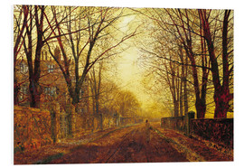 Stampa su schiuma dura  Night in Gold, 1872 - John Atkinson Grimshaw