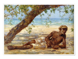 Poster Premium  Samuel under a Tree - Henry Scott Tuke