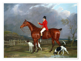 Poster Premium A Huntsman and Hounds, 1824