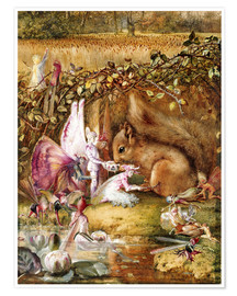 Poster  The Wounded Squirrel - John Anster Fitzgerald
