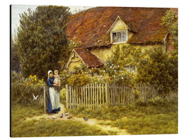 Alluminio Dibond  Mother and child on lodge - Helen Allingham