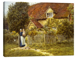 Stampa su tela  Mother and child on lodge - Helen Allingham