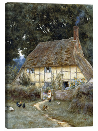 Stampa su tela  On the Brook Road, near Witley - Helen Allingham