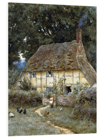 Stampa su PVC  On the Brook Road, near Witley - Helen Allingham