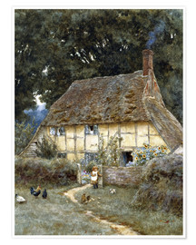 Helen Allingham - On the Brook Road, near Witley