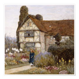 Poster  Old Manor House - Helen Allingham