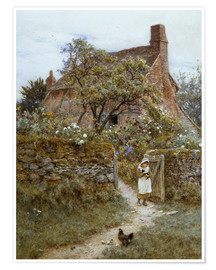 Poster  The Black Kitten - Helen Allingham