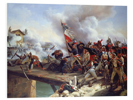 Stampa su schiuma dura  The Battle of Pont d'Arcole, 1826 - Emile Jean Horace Vernet