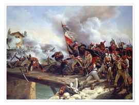 Poster Premium The Battle of Pont d'Arcole, 1826