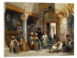 Vetro acrilico  Arabic Figures in a Coffee House - Carl Friedrich Heinrich Werner