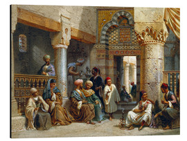 Stampa su alluminio  Arabic Figures in a Coffee House - Carl Friedrich Heinrich Werner