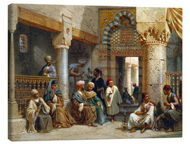 Stampa su tela  Arabic Figures in a Coffee House - Carl Friedrich Heinrich Werner