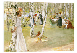 Stampa su schiuma dura  Breakfast in the Open - Carl Larsson