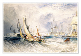 Poster Premium  Gosport: The Entrance to Portsmouth Harbour - Joseph Mallord William Turner