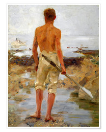 Poster Premium A Boy with an Oar