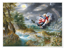 Poster Premium  God creating the sun, the moon and the stars in the Firmament - Jan Brueghel d.Ä.