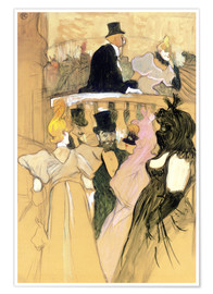 Poster Premium  At the Opera Ball - Henri de Toulouse-Lautrec