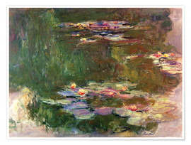 Poster Premium The lily pond