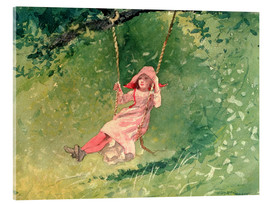 Stampa su vetro acrilico  Girl on a Swing - Winslow Homer