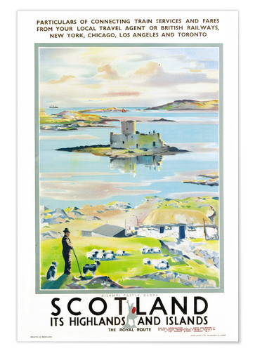 Poster Premium Scotland, it's Highlands and Islands