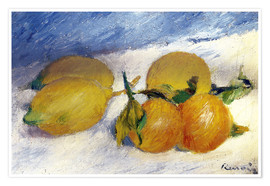 Poster Premium Still Life with Lemons and Oranges