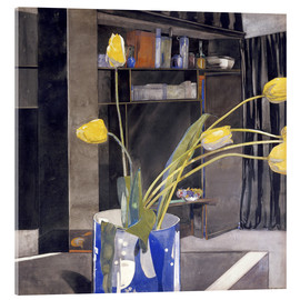 Stampa su vetro acrilico  Yellow Tulips - Charles Rennie Mackintosh