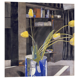 Stampa su schiuma dura  Yellow Tulips - Charles Rennie Mackintosh