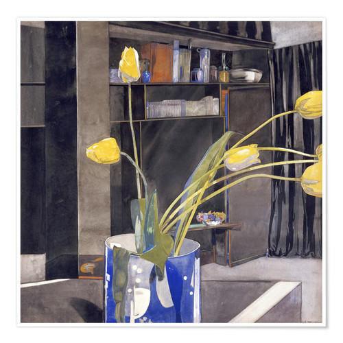 Poster Premium Yellow Tulips