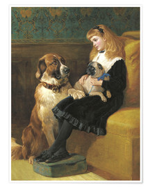 Poster Premium Her only Playmates, 1870
