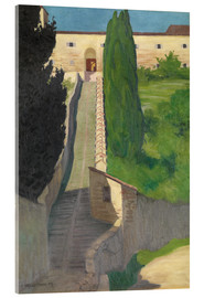 Vetro acrilico  The Steps of the Convent of San Marco, Perugia, 1913 - Felix Edouard Vallotton