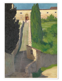 Poster  The Steps of the Convent of San Marco, Perugia, 1913 - Felix Edouard Vallotton