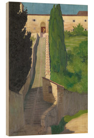 Stampa su legno  The Steps of the Convent of San Marco, Perugia, 1913 - Felix Edouard Vallotton