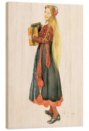 Stampa su legno  Lisbeth Playing the Accordion - Carl Larsson