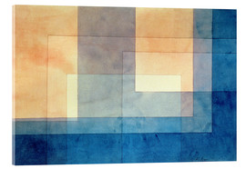 Vetro acrilico  House on the Water - Paul Klee