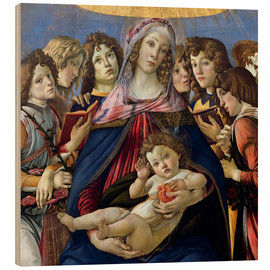 Stampa su legno  Madonna and Child and Six Angels - Sandro Botticelli