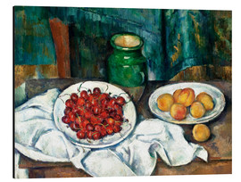 Stampa su alluminio  Cherries and peaches - Paul Cézanne
