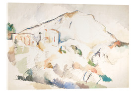 Stampa su vetro acrilico  The Château Noir and Sainte-Victoire mountains - Paul Cézanne
