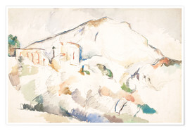 Poster Premium  The Château Noir and Sainte-Victoire mountains - Paul Cézanne