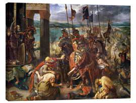 Stampa su tela  The conquest of Constantinople by the crusaders - Eugene Delacroix