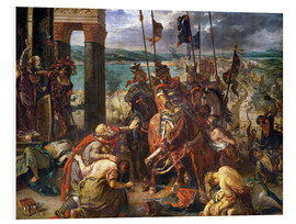 Stampa su PVC  The conquest of Constantinople by the crusaders - Eugene Delacroix