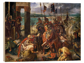 Legno  The conquest of Constantinople by the crusaders - Eugene Delacroix