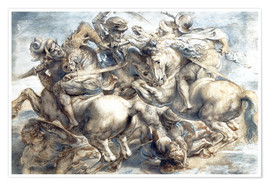 Poster Premium Battle of Anghiari, sketch