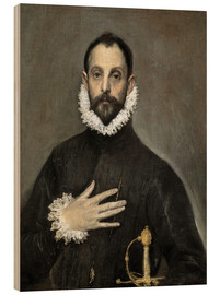 Legno  The Caballero with his Hand on His Heart - Dominikos Theotokopoulos (El Greco)