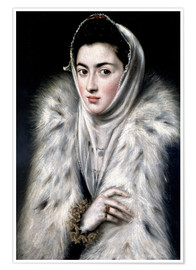 Poster Premium The Lady with the fur