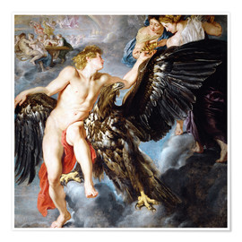 Poster Premium  Abduction of Ganymede - Peter Paul Rubens