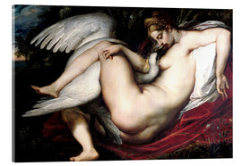 Stampa su vetro acrilico  Leda and the Swan - Peter Paul Rubens